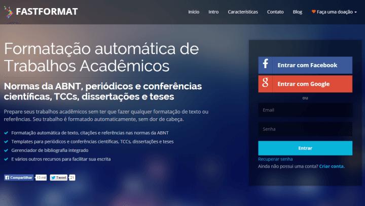 Software formata trabalhos acadêmicos nas normas ABNT automaticamente
